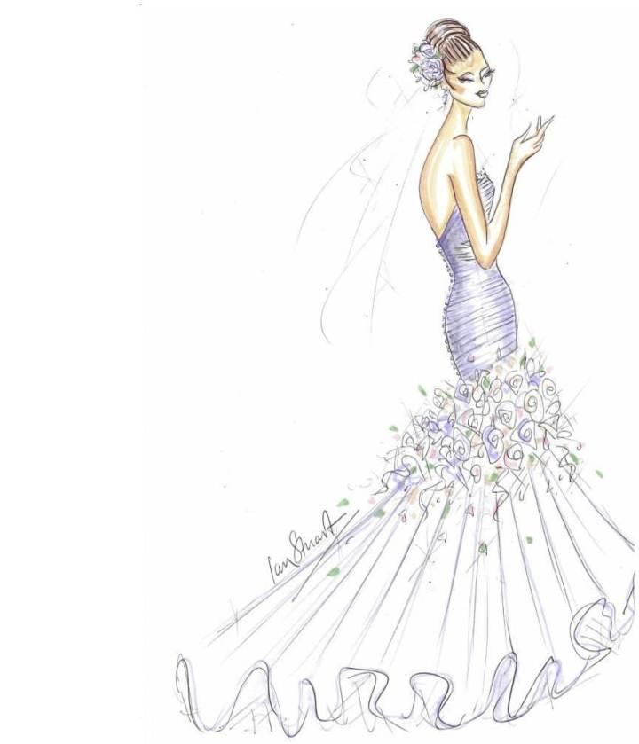 婚纱图稿-婚纱礼服设计-服装设计