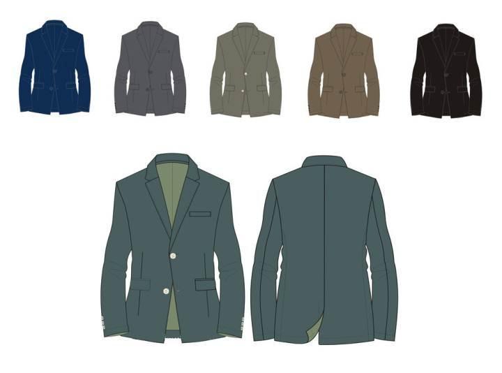 西装款式图-男装设计-服装设计