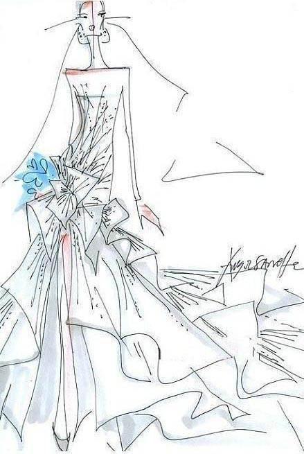 婚纱手稿收集-婚纱礼服设计-服装设计