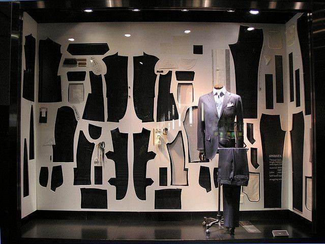 橱窗设计男装陈列-橱窗陈列设计-服装设计