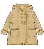 棉大衣款式图