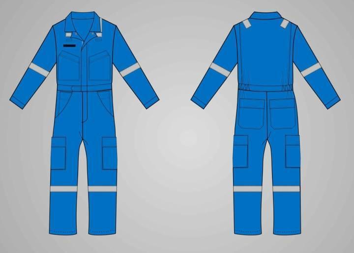连体工作服款式-职业服装设计-服装设计
