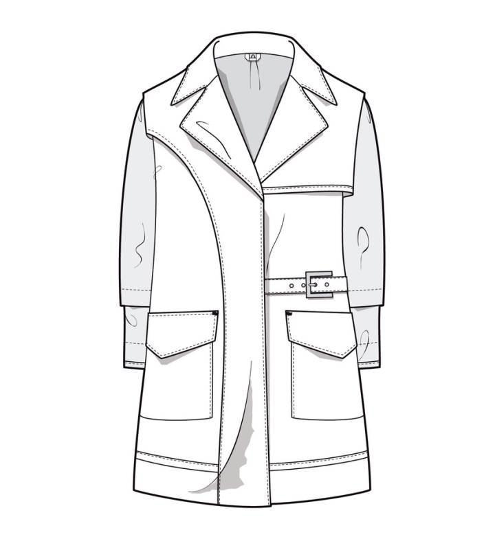 服装款式图_服装设计手稿款式图_款式图代画_ 款式图片