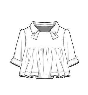 上衣款式图-童装设计-服装设计