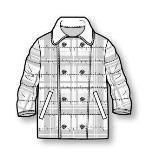 童装棉大衣款式图