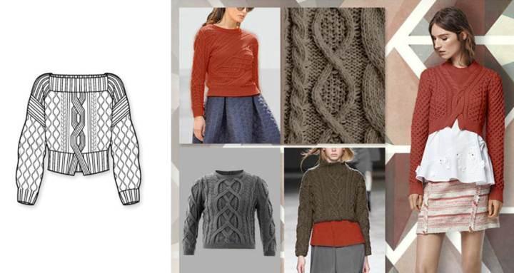 针织套头衫款式图-毛衫针织设计-服装设计