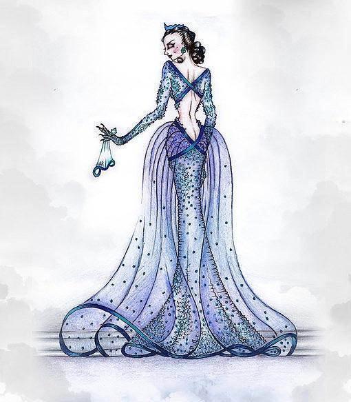 手稿-婚纱礼服设计-服装设计