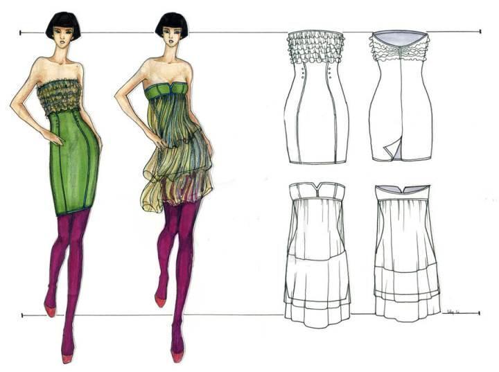 小礼服手稿收集-婚纱礼服设计-服装设计