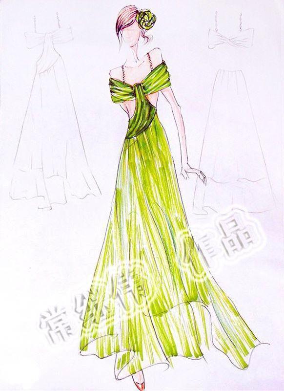 禮服手稿-婚紗禮服設計-服裝設計