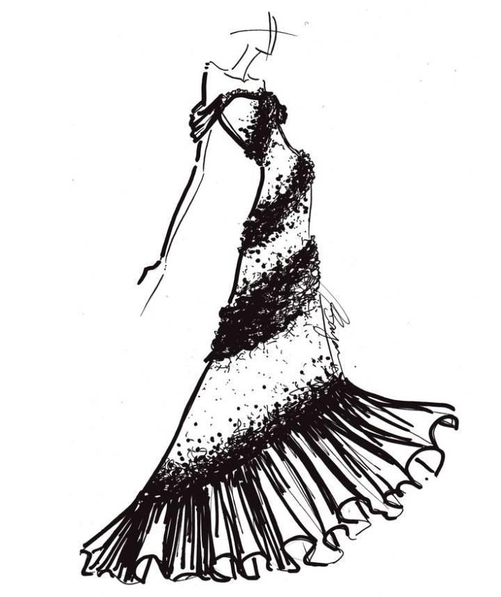 礼服手稿搜集-婚纱礼服设计-服装设计