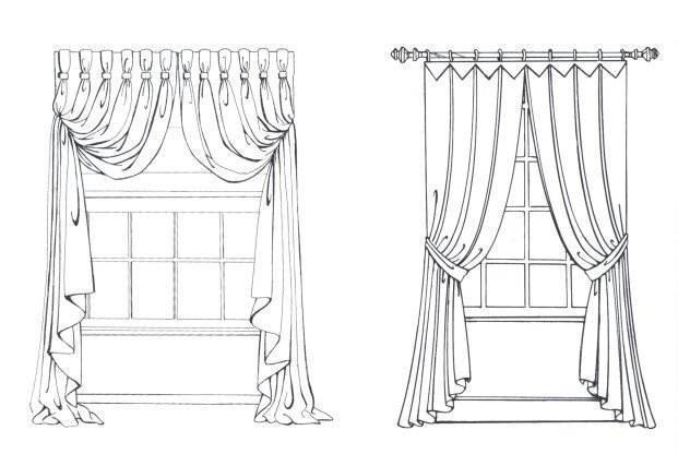 窗帘图稿-家纺系列设计-服装设计