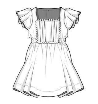 连衣裙款式图-童装设计-服装设计