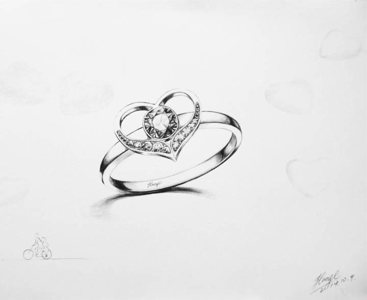 戒指手稿-鞋帽配饰设计-服装设计