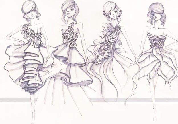 创意礼服手绘稿