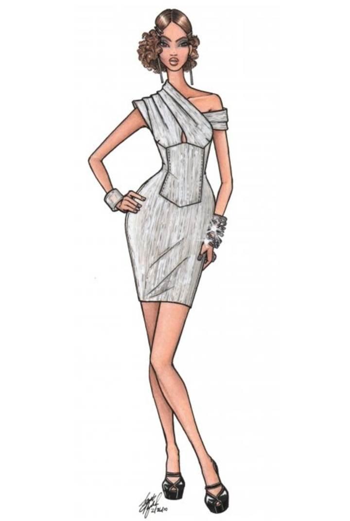 小礼服图稿-婚纱礼服设计-服装设计