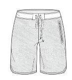 短装裤款式图