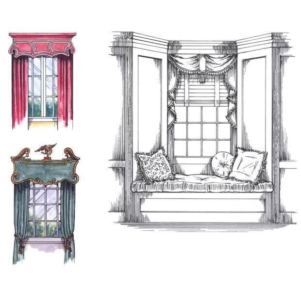 窗帘手稿作品-窗帘手稿款式图