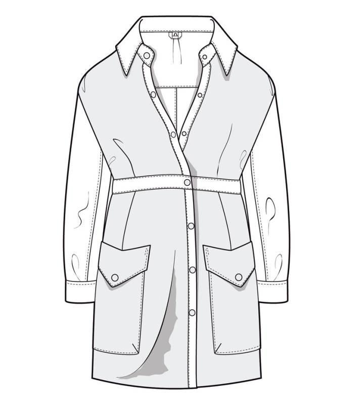 衬衫款外套款式图作品-衬衫款外套款式图款式图