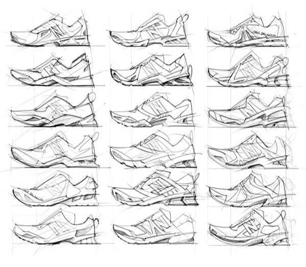 运动鞋设计图稿