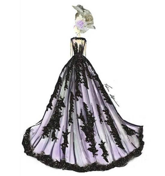 晚礼服手稿作品-晚礼服手稿款式图图片