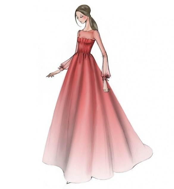 婚纱礼服图稿