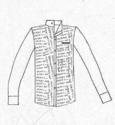 衬衣作品-衬衣款式图
