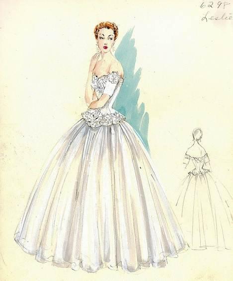 婚纱图稿搜集-婚纱礼服设计-服装设计