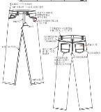 牛仔裤款式工艺单