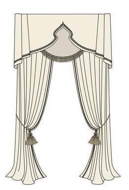 窗帘电子稿作品-窗帘电子稿款式图