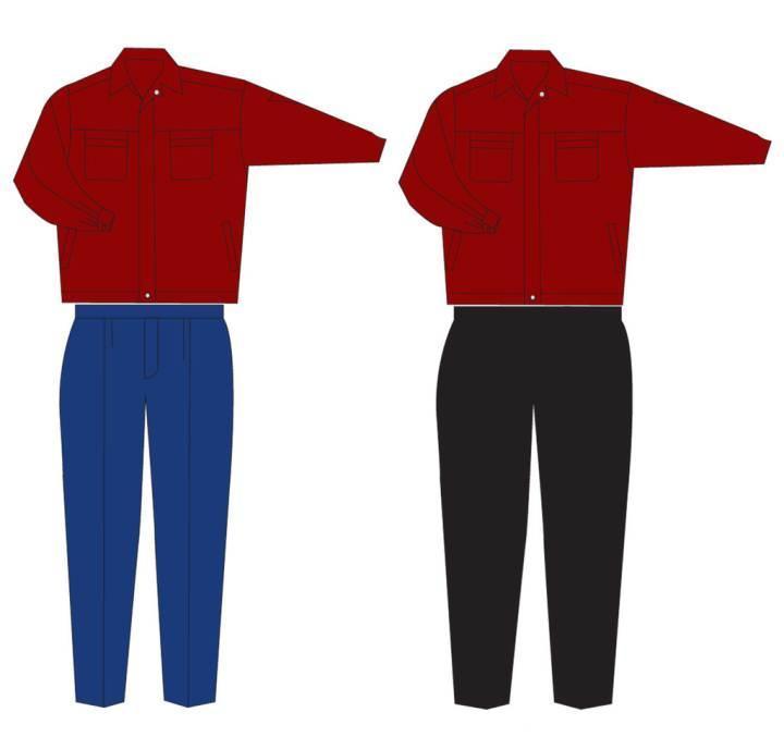 工装工作服款式图-职业服装设计-服装设计