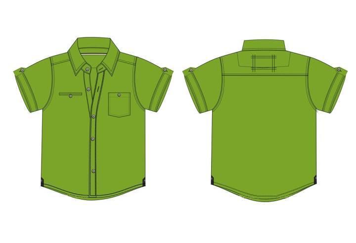 短袖衬衫款式图