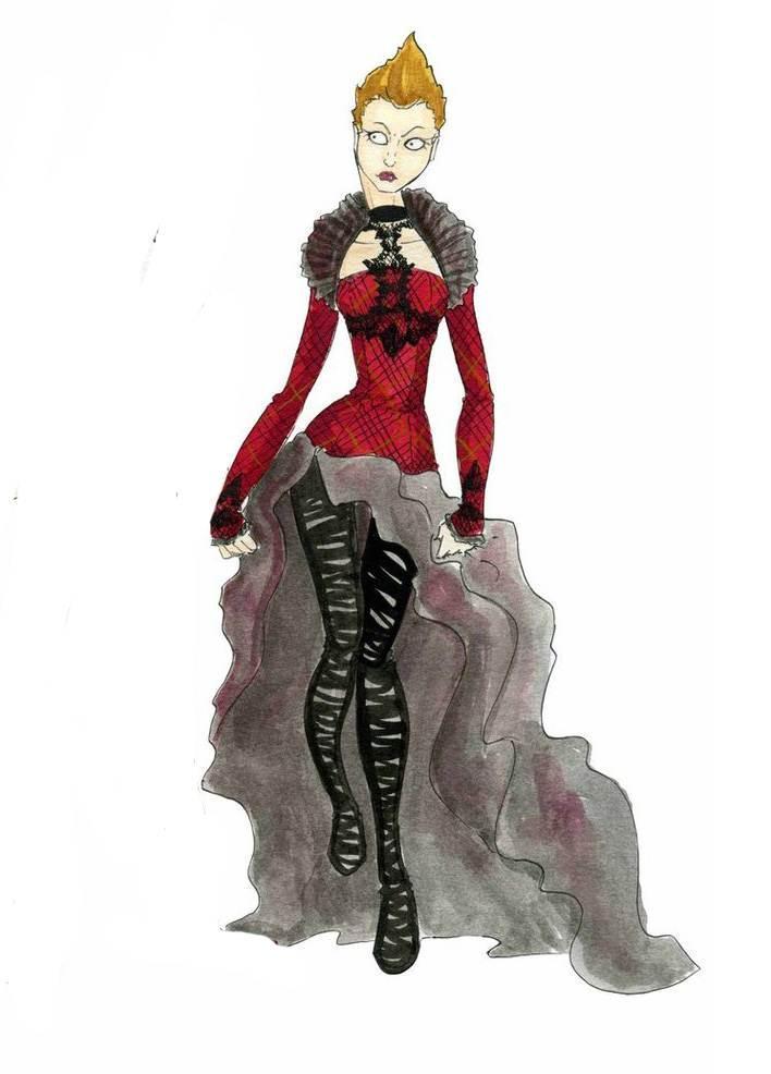哥特风-婚纱礼服设计-服装设计