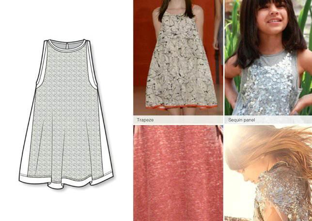 a型裙子款式图
