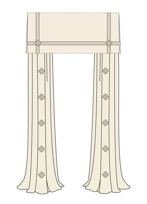 窗帘样式作品-窗帘样式款式图
