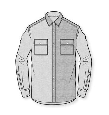 衬衫款式图-男装设计-服装设计