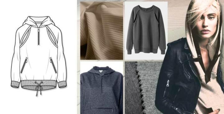 衛衣款式圖-女裝設計-服裝設計