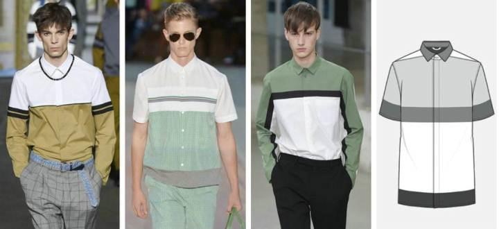 衬衫款式图作品-衬衫款式图款式图