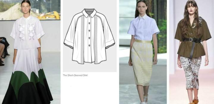 衬衫款式图-女装设计-服装设计