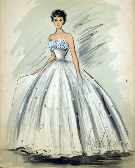 简单服装设计图礼服