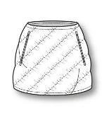 羽绒裙子款式图