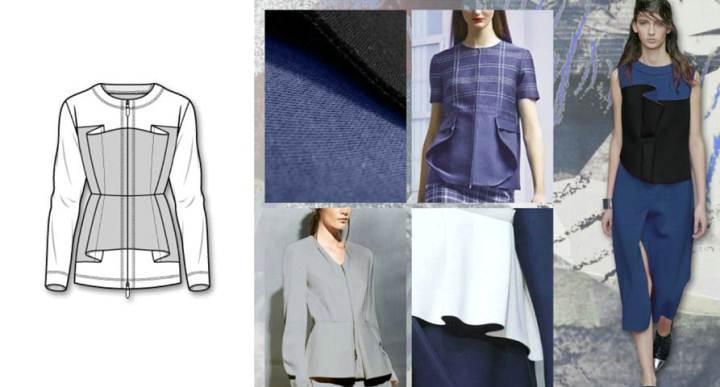 上衣款式圖-女裝設計-服裝設計