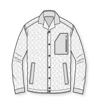 外套款式图-男装设计-服装设计