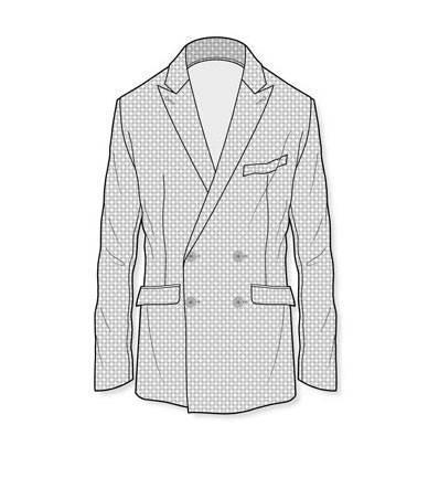双排扣西装款式图-男装设计-服装设计