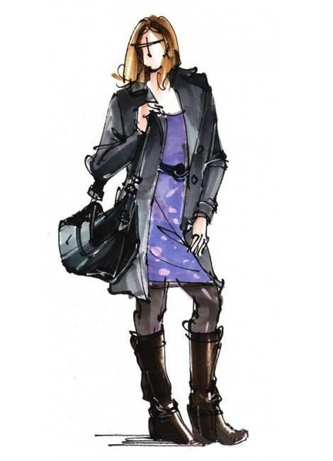 马克笔手绘采集-女装设计-服装设计