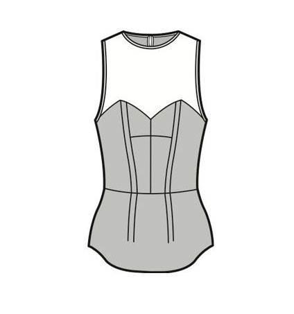 女士上衣款式圖-女裝設計-服裝設計