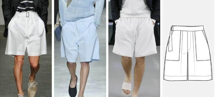 休闲短裤款式图-男装设计-服装设计