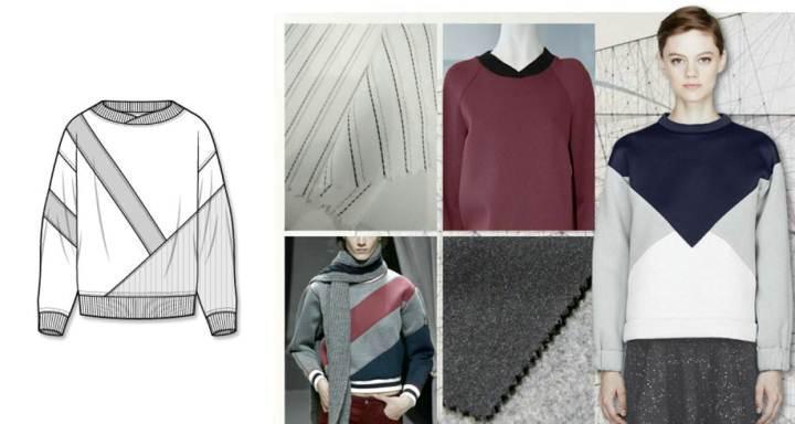 太空棉衛衣款式圖-女裝設計-服裝設計