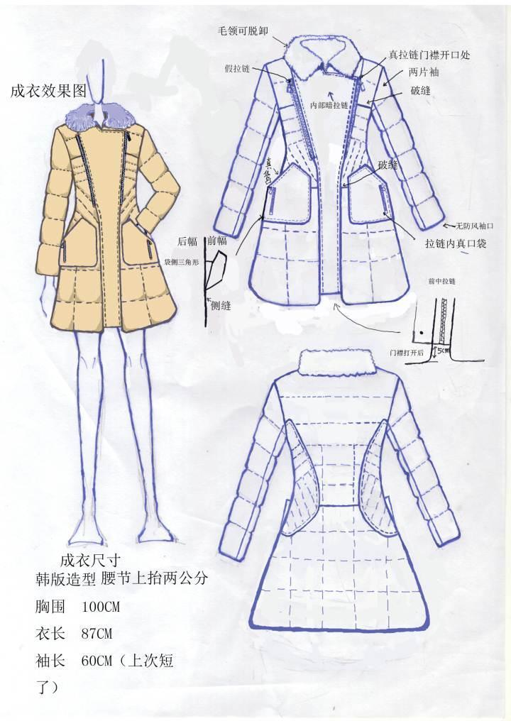 服装手绘工艺单