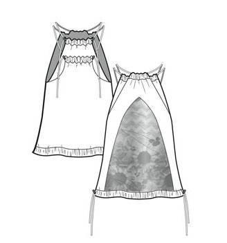 吊带连衣裙款式图-童装设计-服装设计