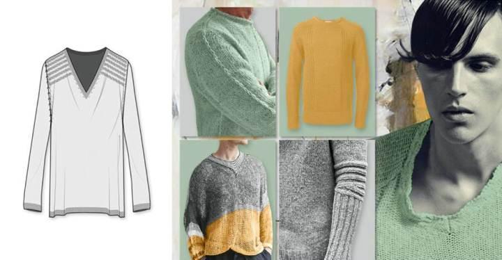 针织衫款式图-毛衫针织设计-服装设计